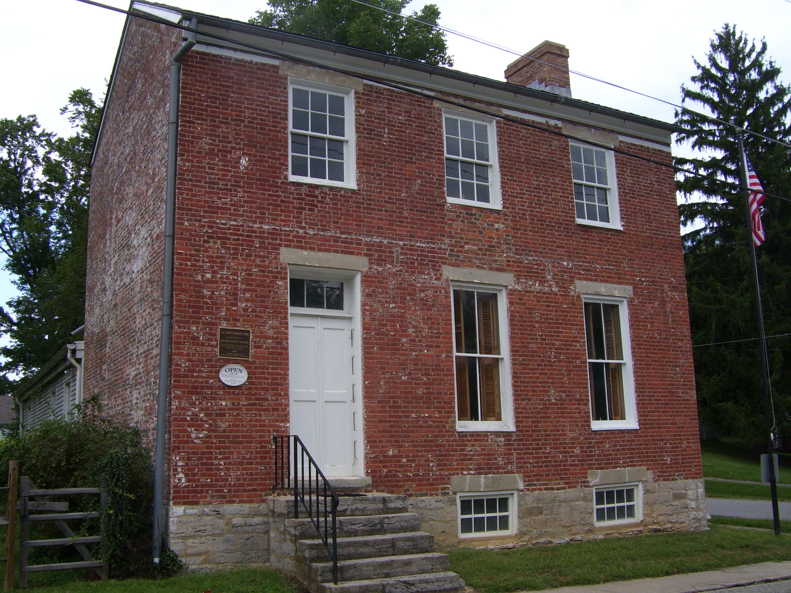 Grant lived in this home from 1823 (when he was one year old) until 1839, when he left home and attended the US Military Academy at West Point.