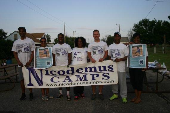 Photo advertising youth camps in Nicodemus, Kansas (taken at the 2016 Homecoming)