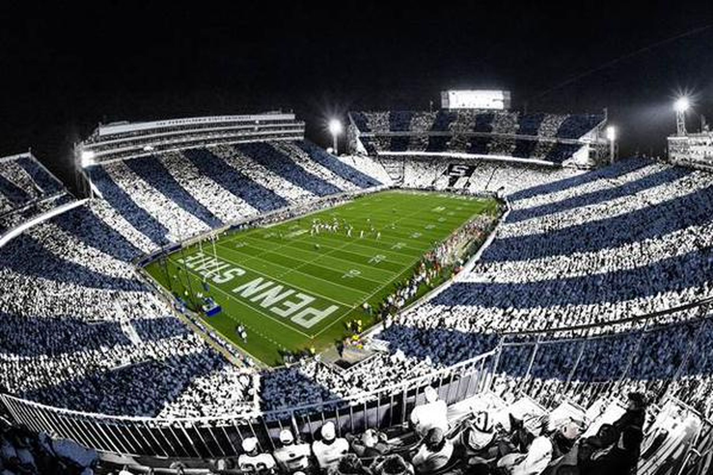 Beaver Stadium during a night game.