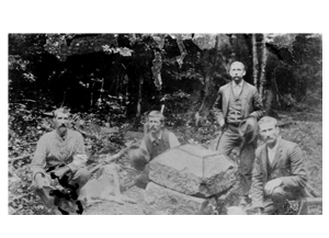 The original Fairfax Stone, circa 1881. Image obtained from the WV Division of Culture & History