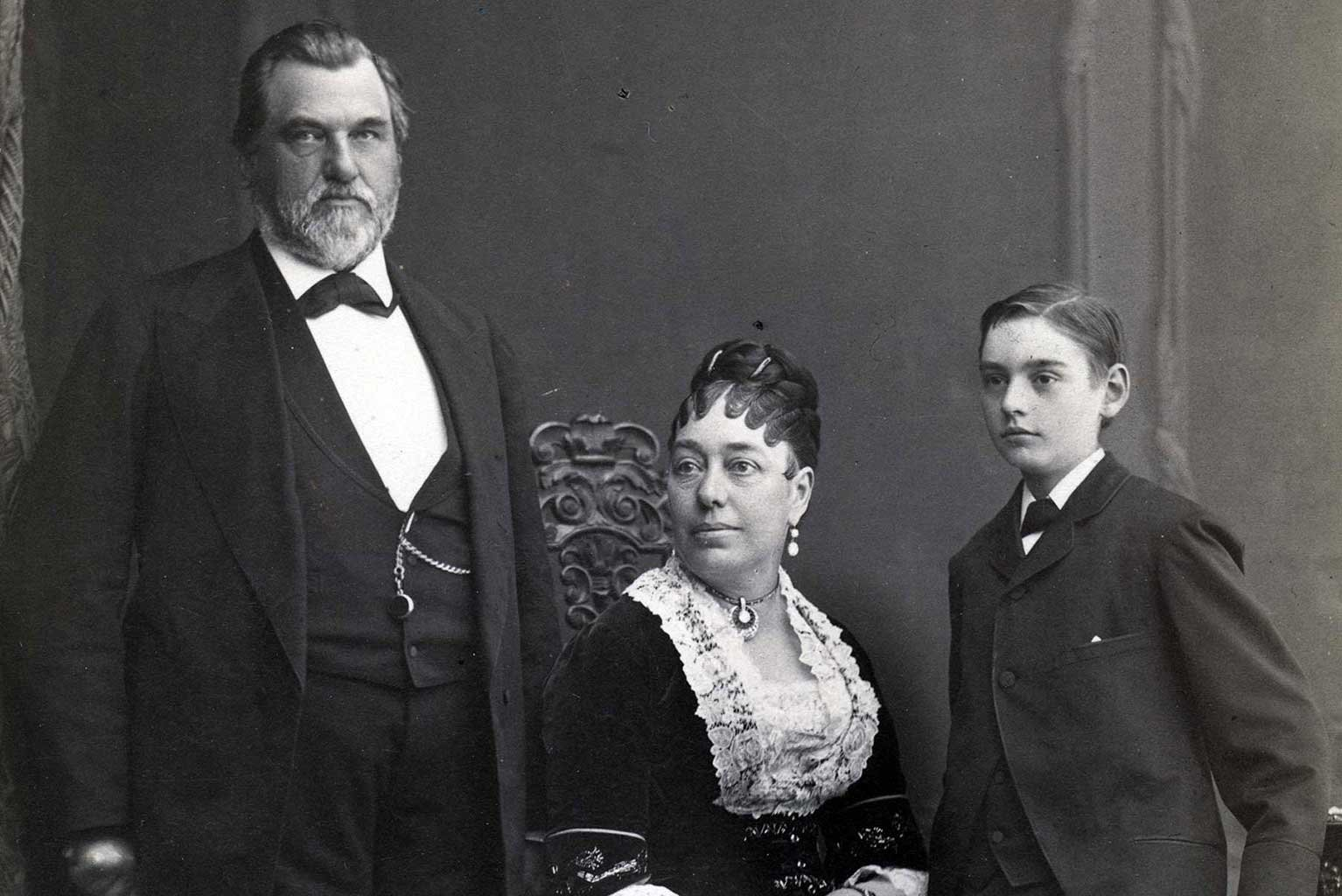A family portrait before Leland Stanford Jr.'s death in 1884.