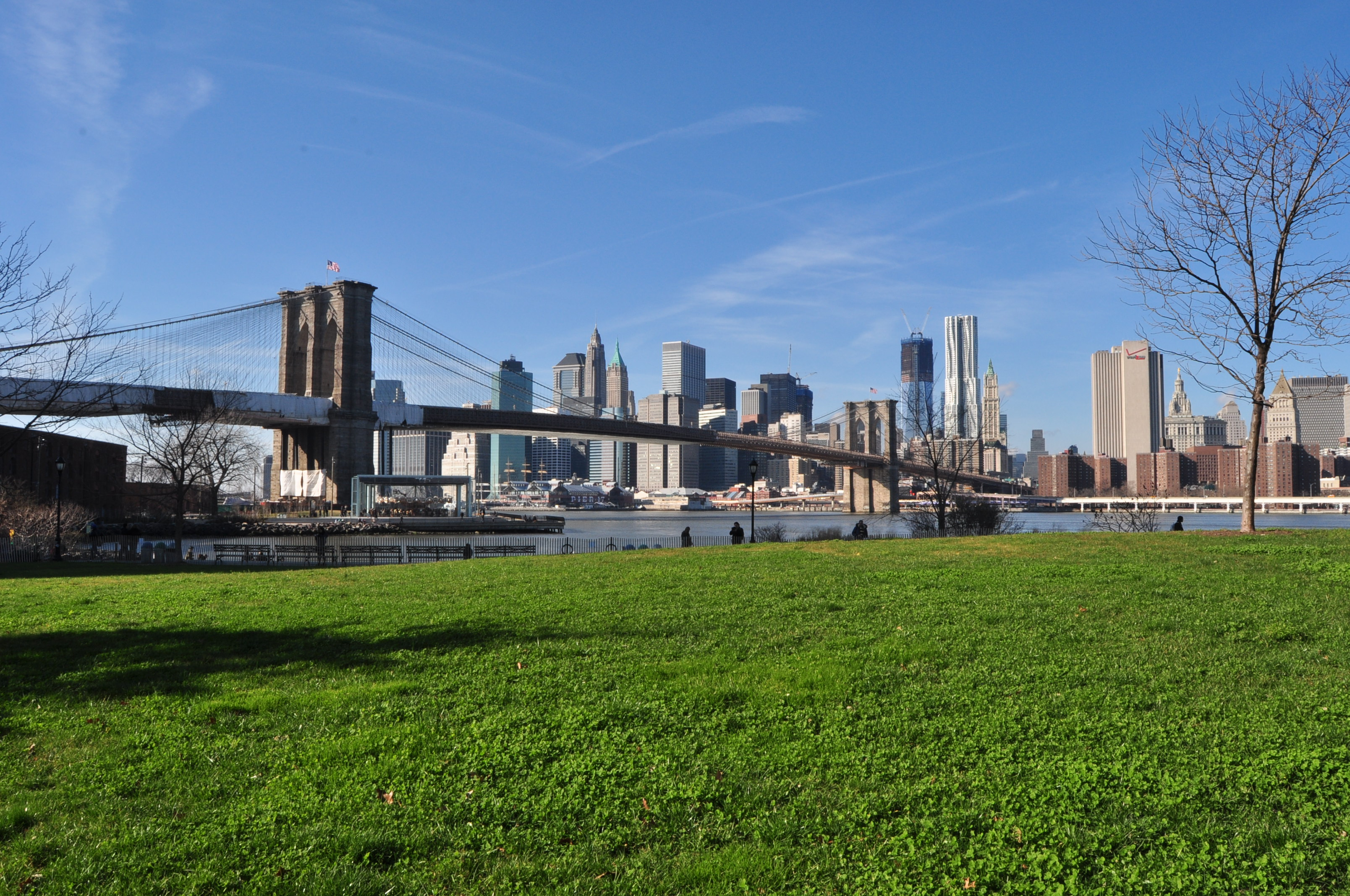 Once it's complete, the financially self-sustaining Brooklyn Bridge Park will be 85 acres along 1.3 miles of East River waterfront overlooking lower Manhattan.