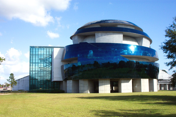 The IMAX theater and planetarium