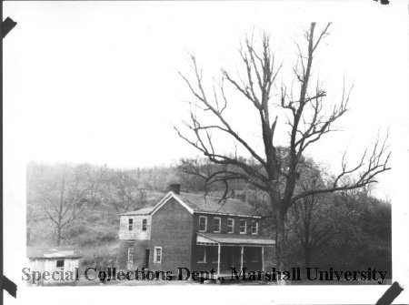 Achillies Fuller home, Rt. 60 and Midland Trail. Special Collections Marshall Morrow Library. Home is gone.