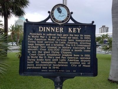 Dinner Key historical marker