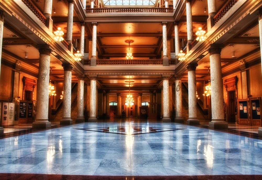 Interior of the statehouse
