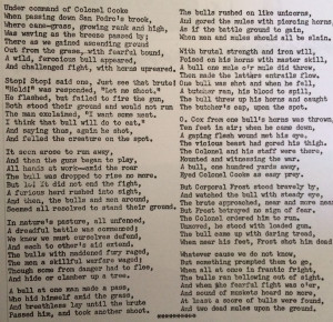 """A poem about the """"battle"""" by Battalion member, Levi Hancock. Courtesy of the Arizona Historical Society"""