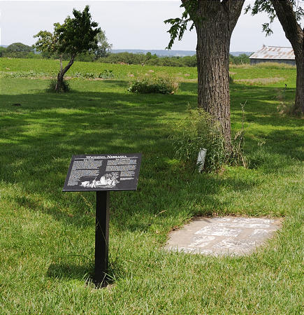 Marker and headstones
