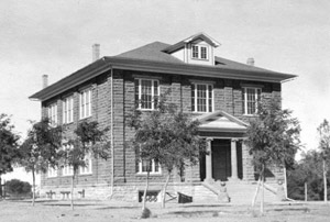 Snowflake Academy in 1913 after it was completed