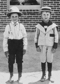 Spencer (L) with childhood friend, Clarence Naylor