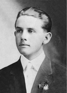 Spencer at time of high school graduation (1914)