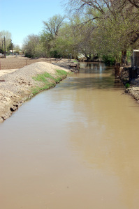 Thatcher canal near home where Kimball was baptized