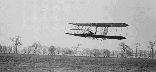 Orville Wright Flying Over Huffman Prairie