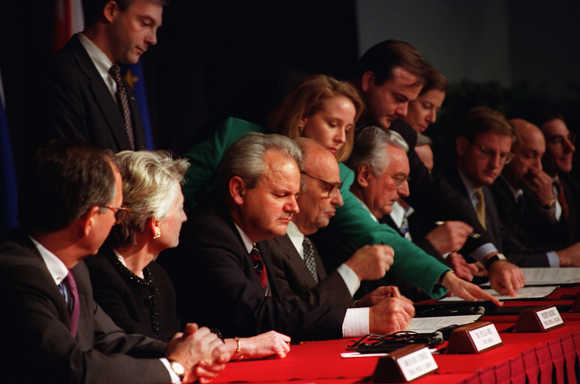 The 1995 Dayton Agreement, which led to the Bosnian War