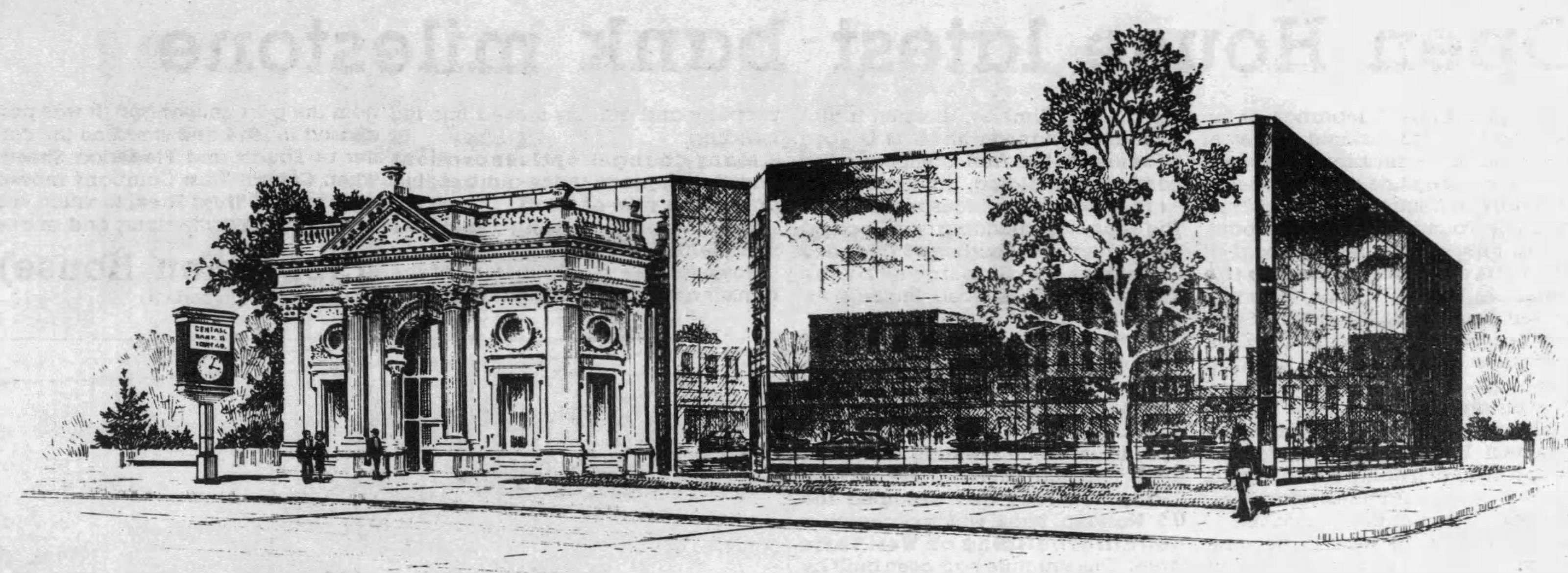 Artist's illustration of building in 1984