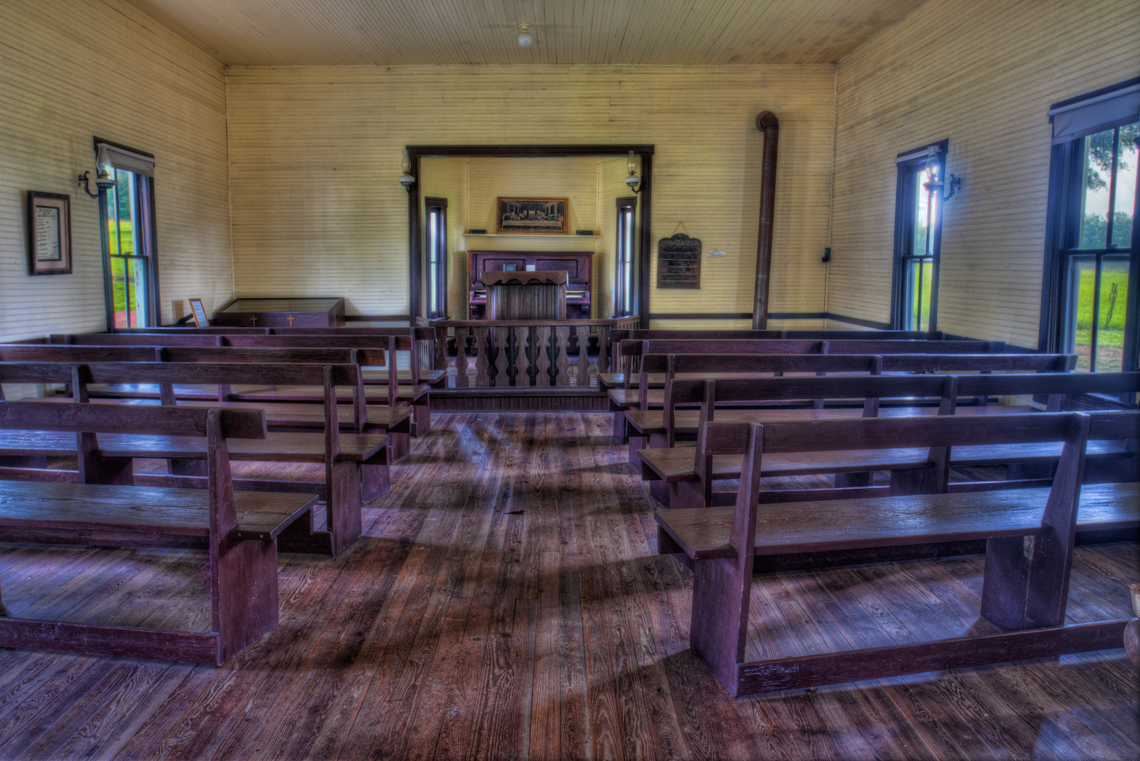View inside a church that was built in 1873 and later replaced in 1903.