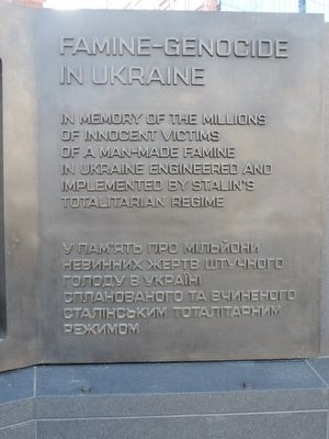 The Famine-Genocide in Ukraine Marker. Scholars estimate that 40 million perished in famines in areas controlled by communist regimes in the Soviet Union, North Korea, China, and Cambodia during the 20th century