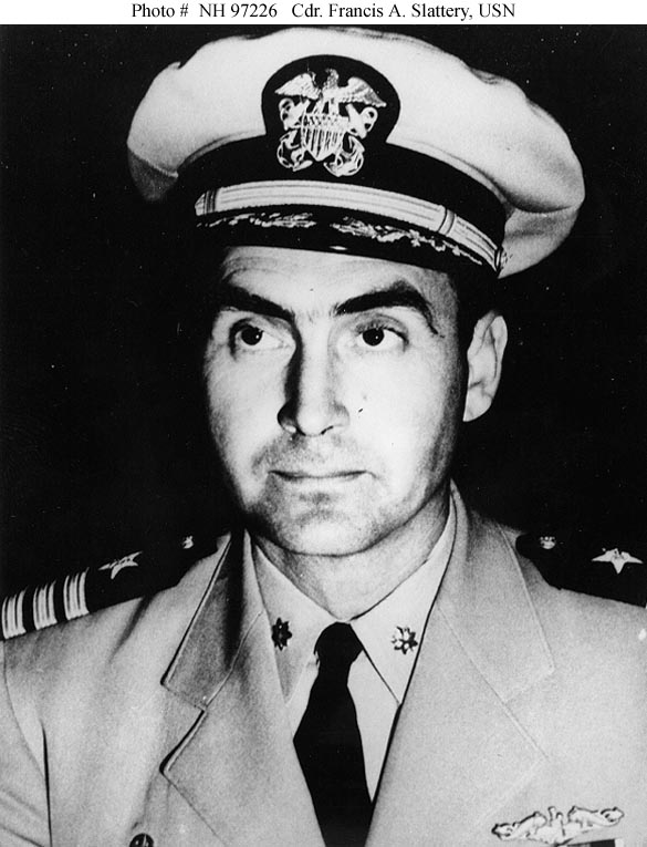 Commander Francis A. Slattery, USN. The officer in command of U.S.S. Scorpion when she was lost in 1968.