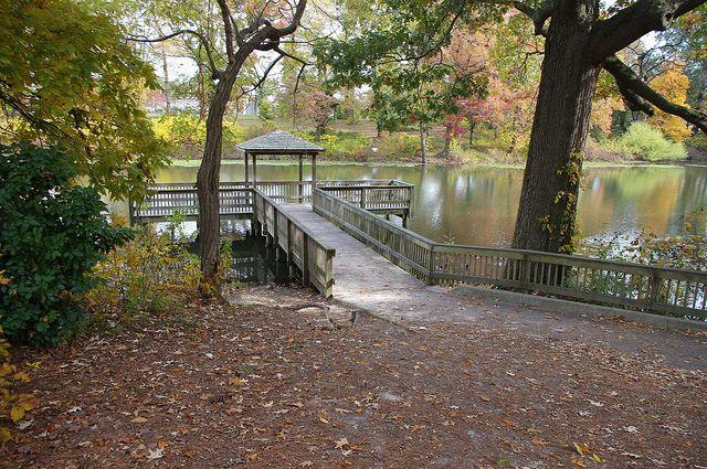 Part of Huntington Park, Newport News, VA--where the memorial is located.