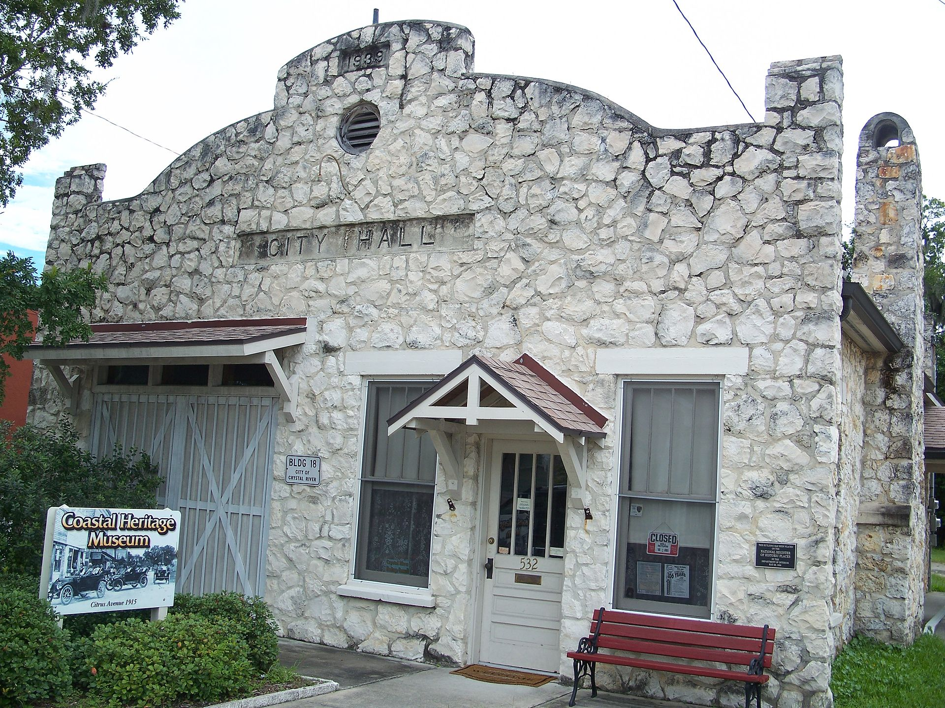 The Crystal River Old City Hall, now the Coastal Heritage Museum