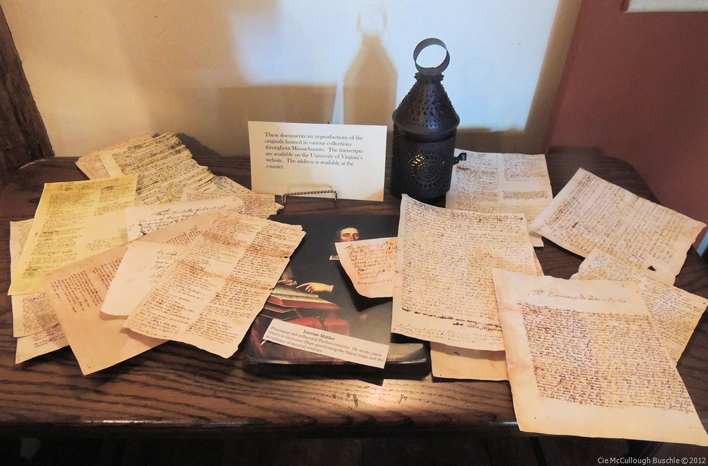 Transcripts of the witch trials inside the house educate visitors on the witch trials.