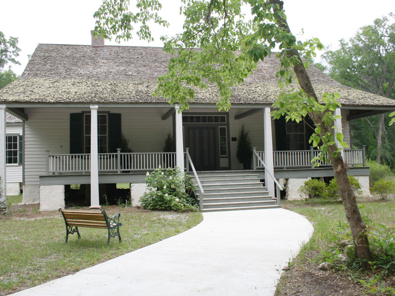 The Haile Homestead plantation house was built in 1856.