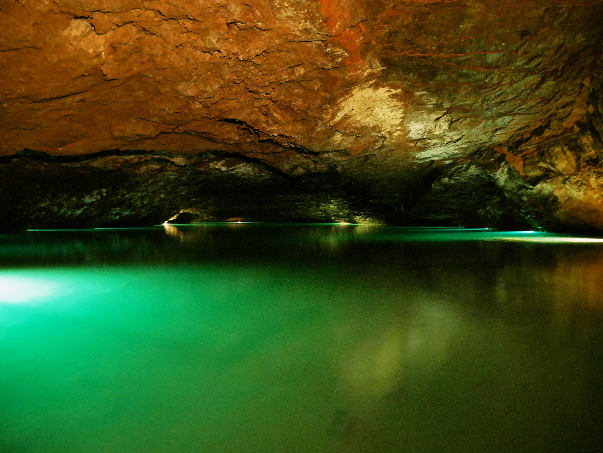 Inside the Underground Lake.