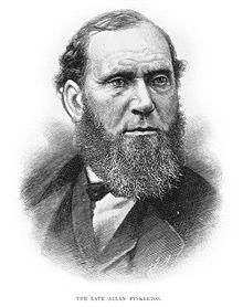 Allan Pinkerton in Harper's Weekly, 1884