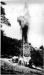 A well in Burning Springs