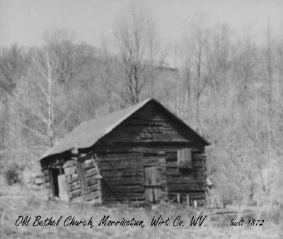 The Old Bethel Church when it was still standing. There is not many pictures of old Morristown because photography was more rare in the 19th century and any pictures that had been taken have been lost.