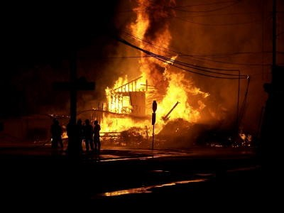 The fire on August 14, 2006
