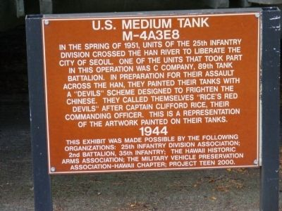 U.S. Medium Tank Marker 4A3E8