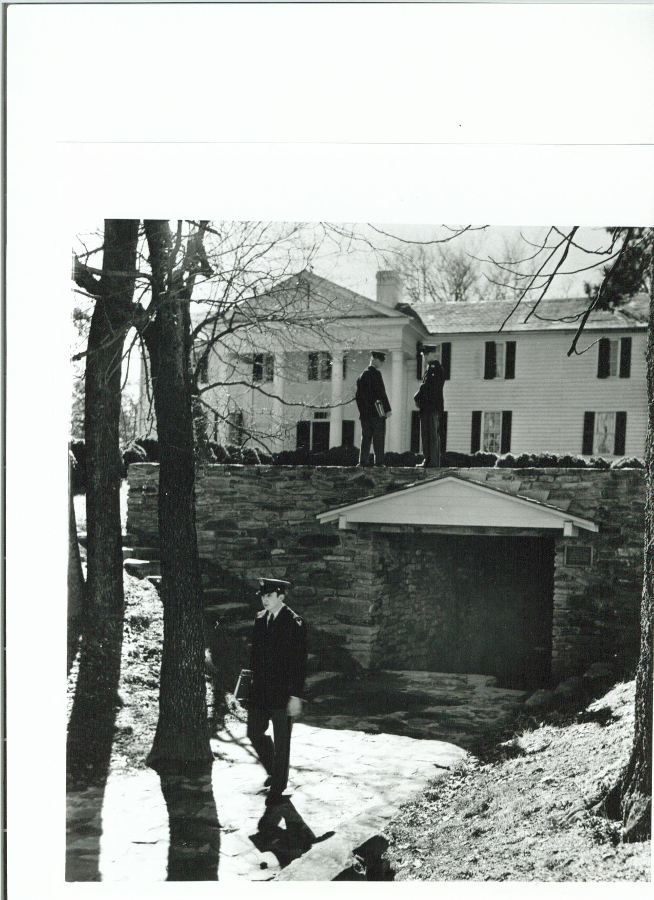 Cadets at the Spring House