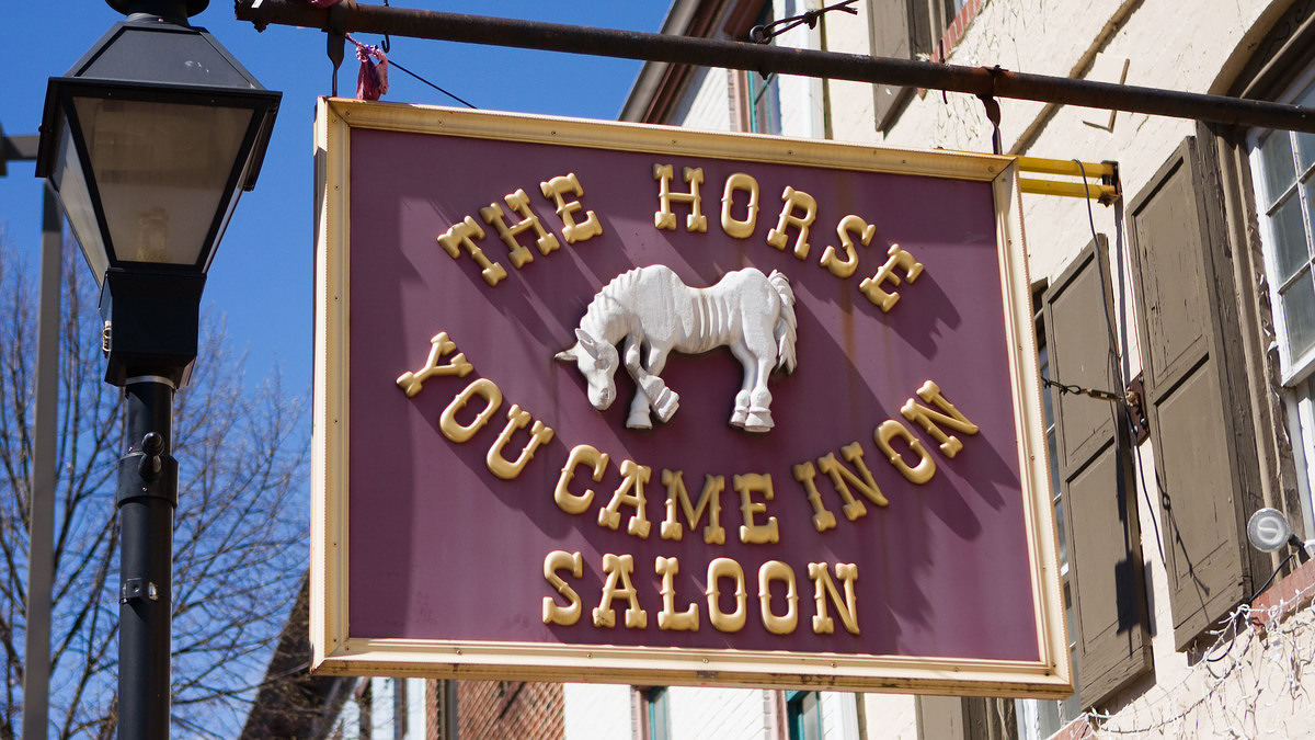 Saloon sign (source: National Trust for Historic Preservation)