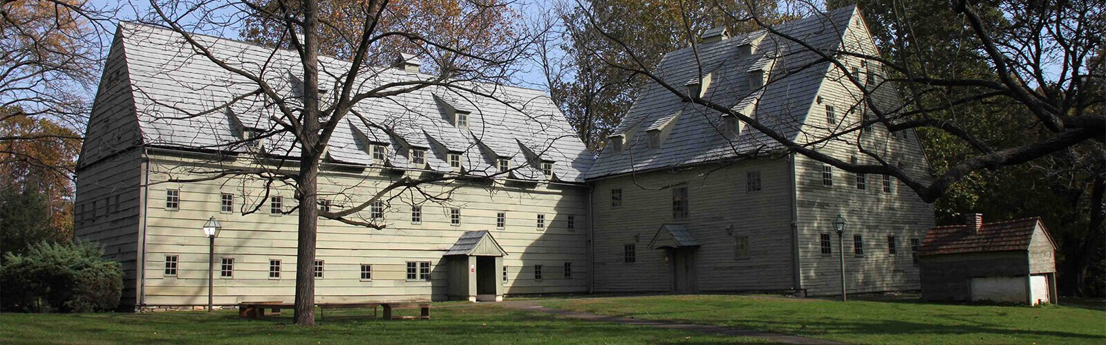 The Brothers' and Sisters' communal quarters at Ephrata.