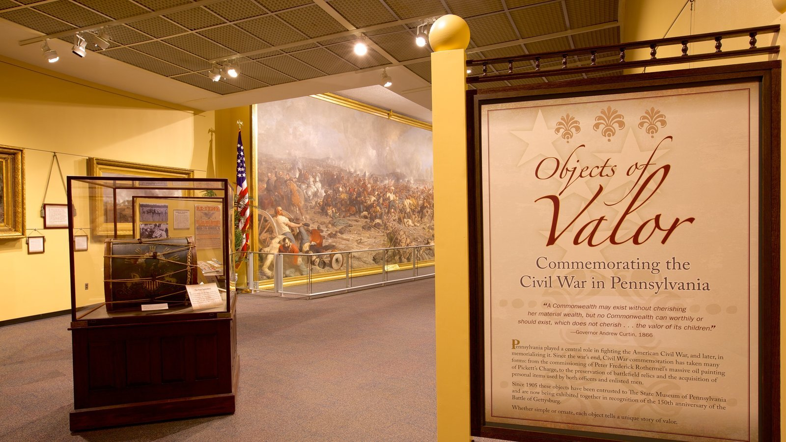 The entrance to the museum's permanent Civil War exhibit.