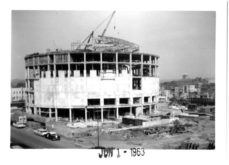 The museum during construction in June of 1963.