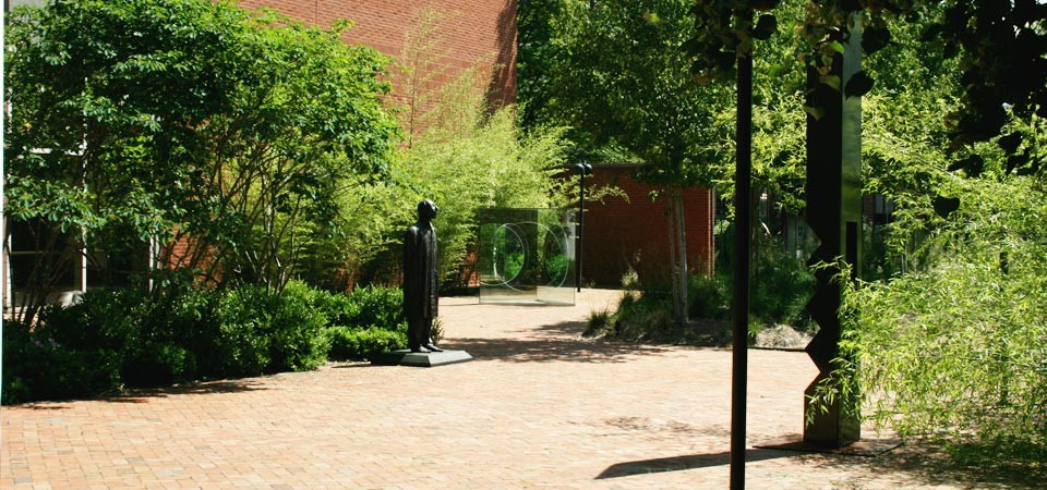 Sculpture garden overview, photo courtesy of the Weatherspoon Art Museum