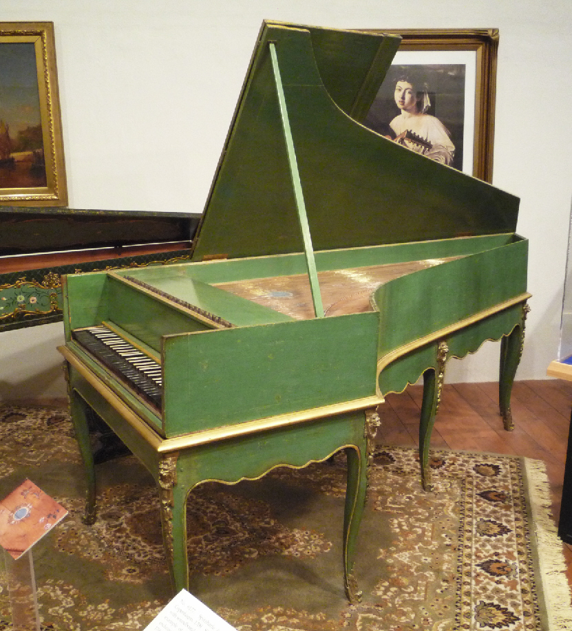 One of the two aforementioned grand pianos. This one was built in France in 1781 and is the earliest known grand piano made in France to survive.
