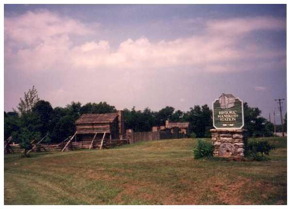 The overlook of Historic Mansker's Station