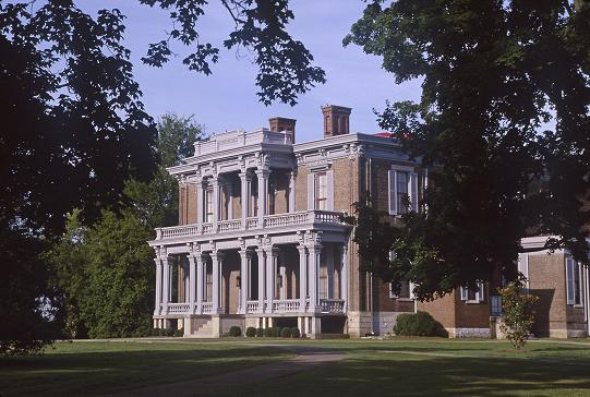 The exterior view of Two Rivers Mansion, now a popular wedding venue