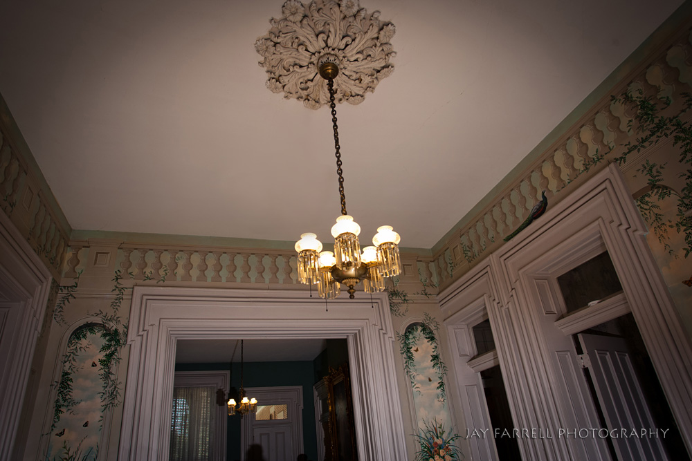 An interior view of the Two Rivers Mansion