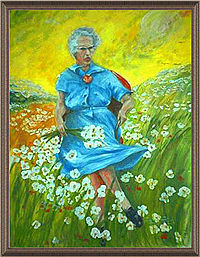 """Lucy in the Sky With Flowers,"" the painting that started it all."