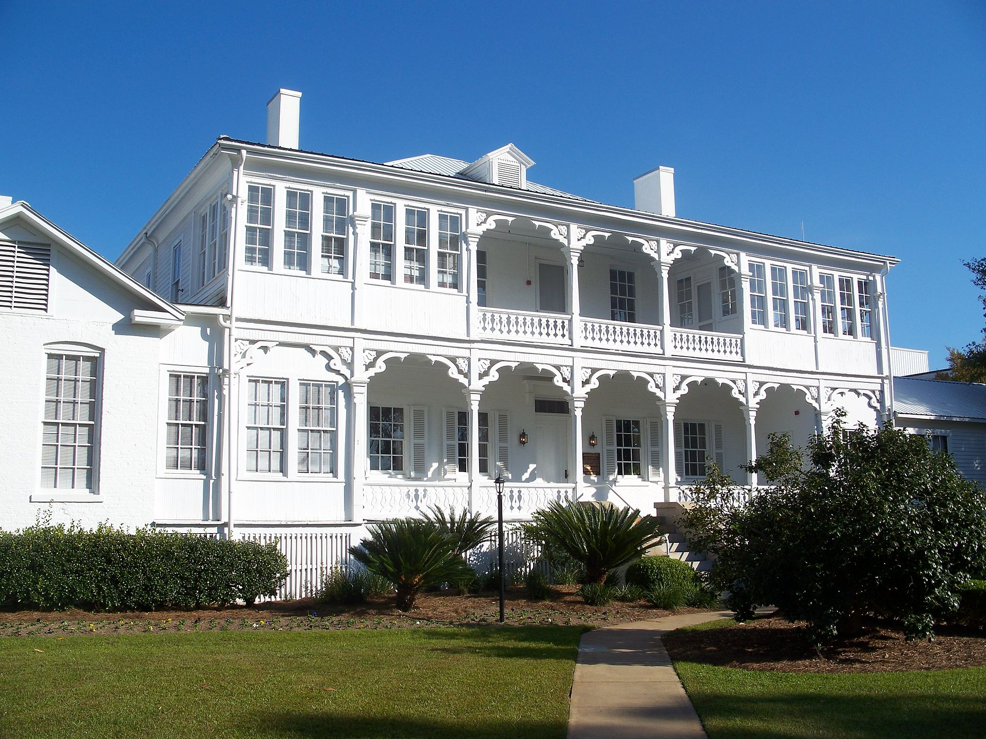 The former Officers Quarters