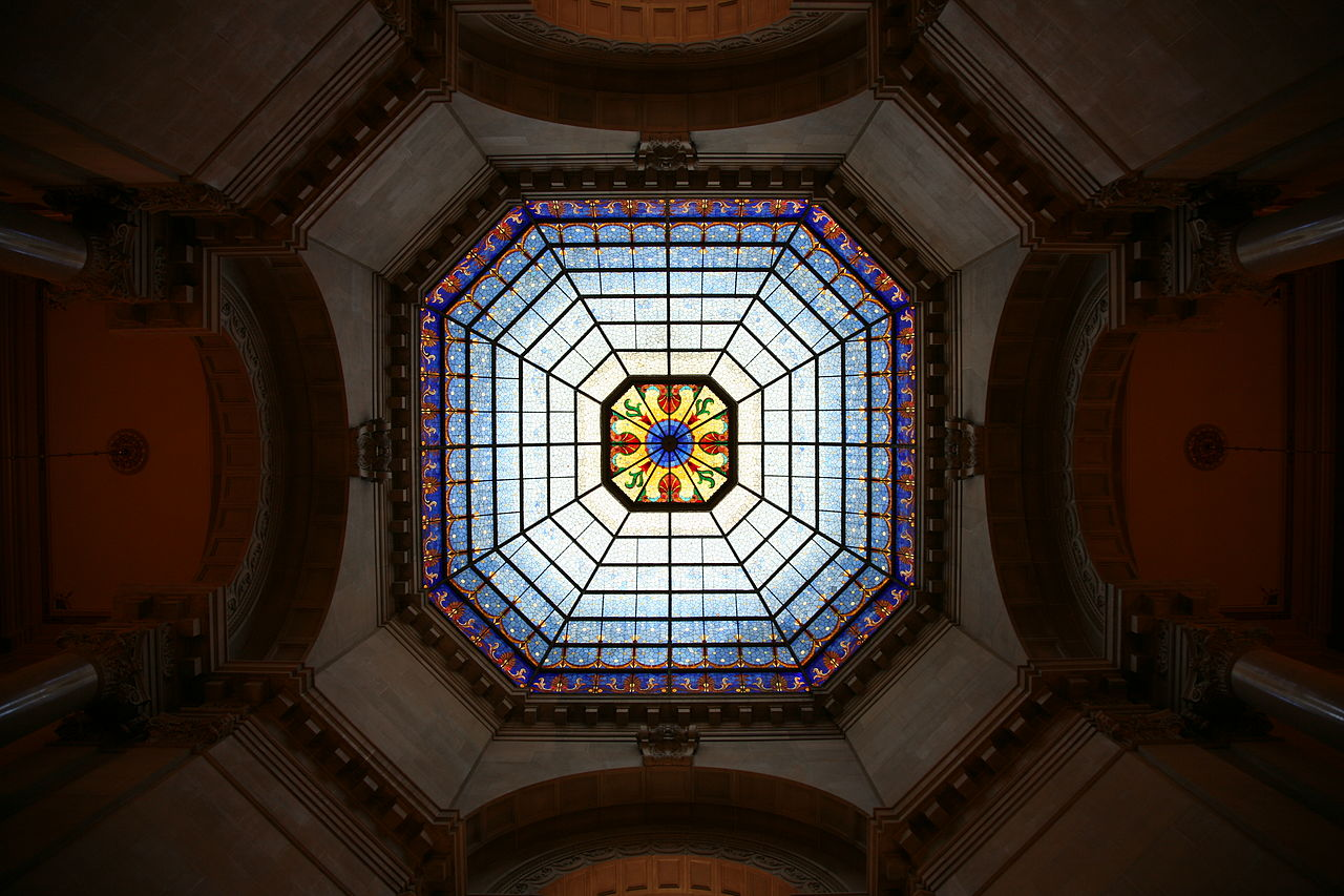 Interior view of the restored dome