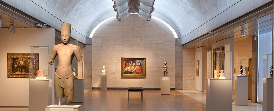 View inside the Kimbell Art Museum