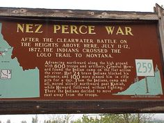 This sign is located south of Stites on Highway 13. The site of the battlefield itself is on private property.