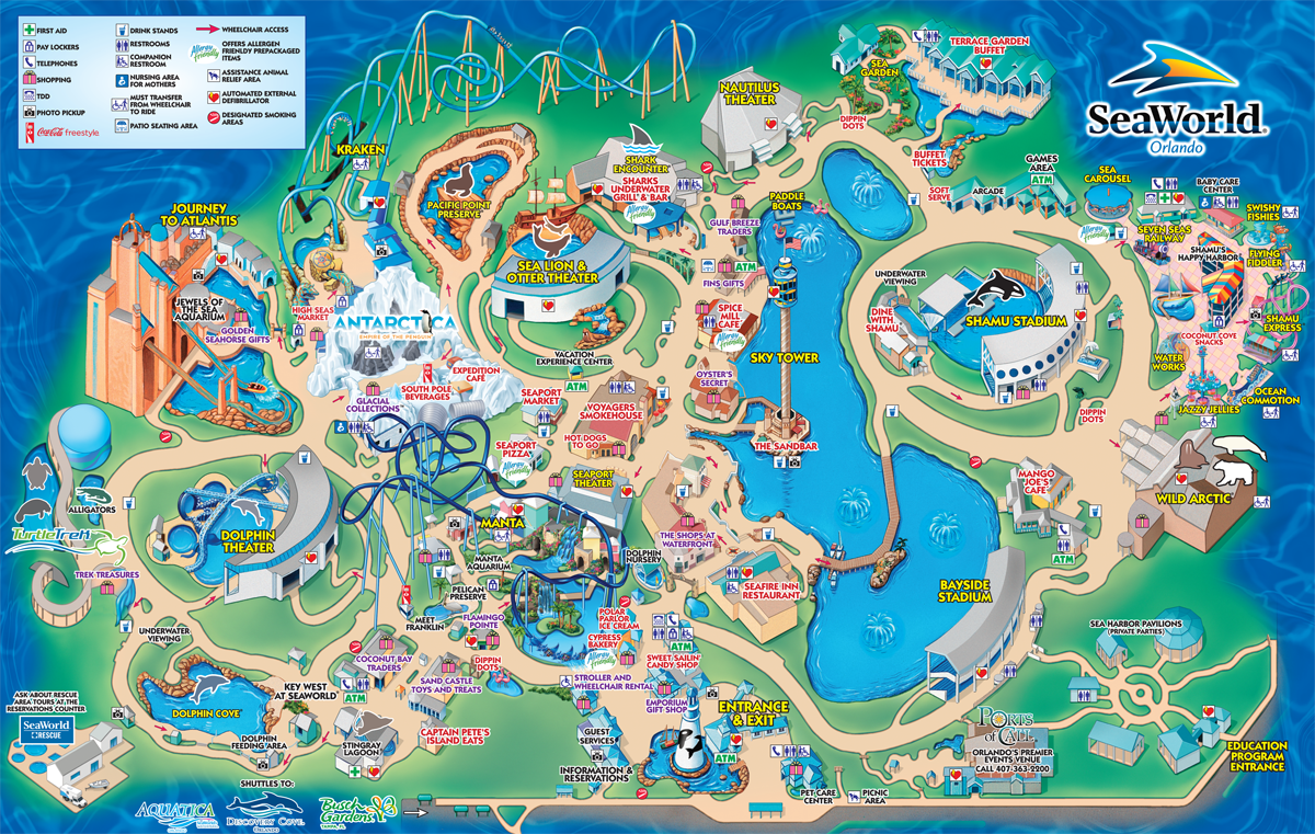 A map of the park in Orlando