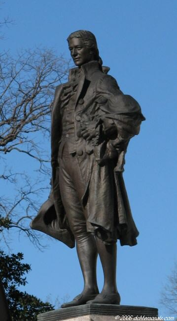 Close up of the Hamilton Statue