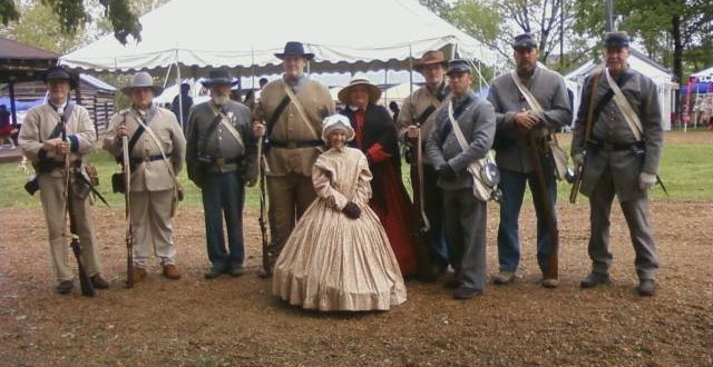 Period actors during the village's Pioneer Days.